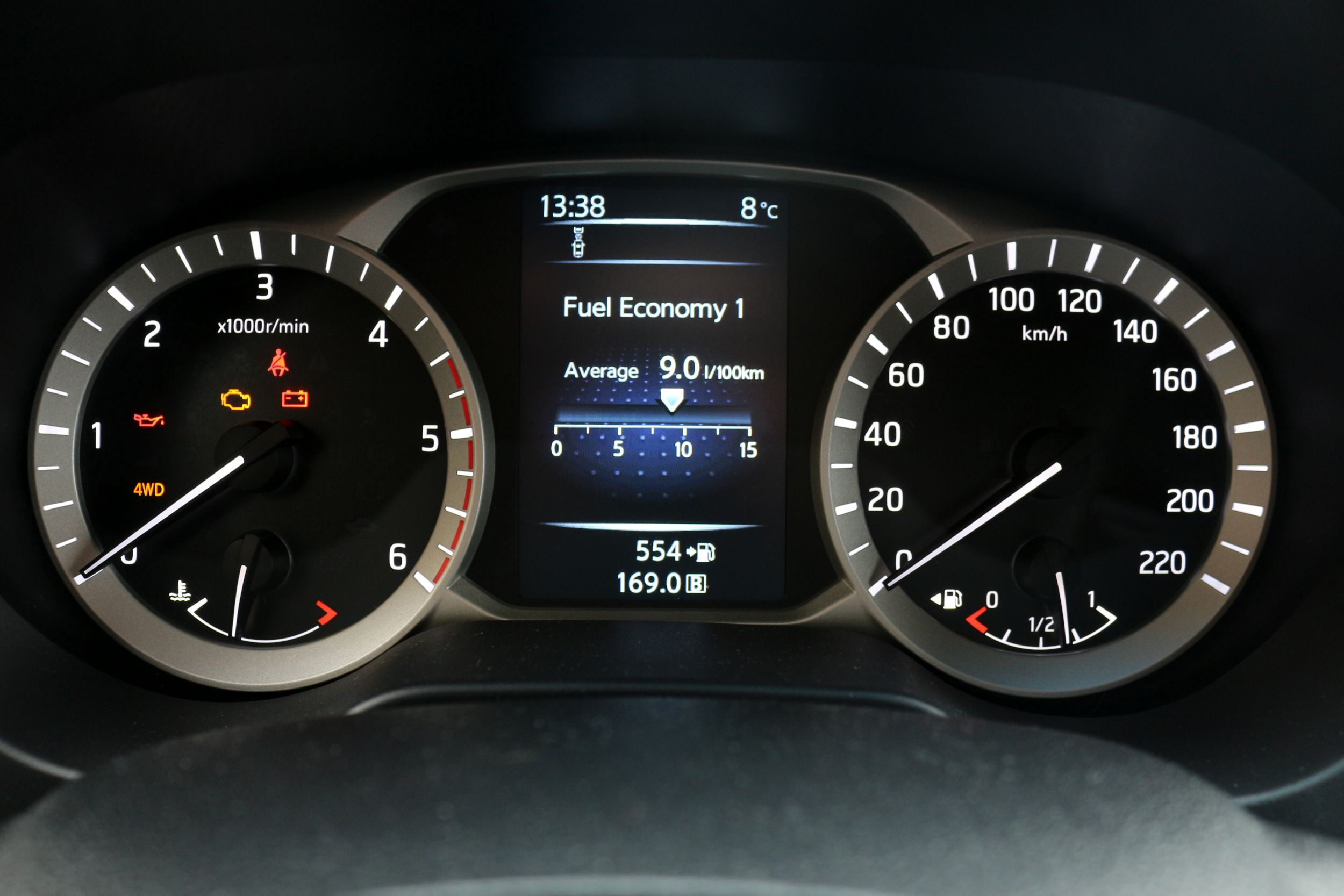 Nissan Navara műszerfal