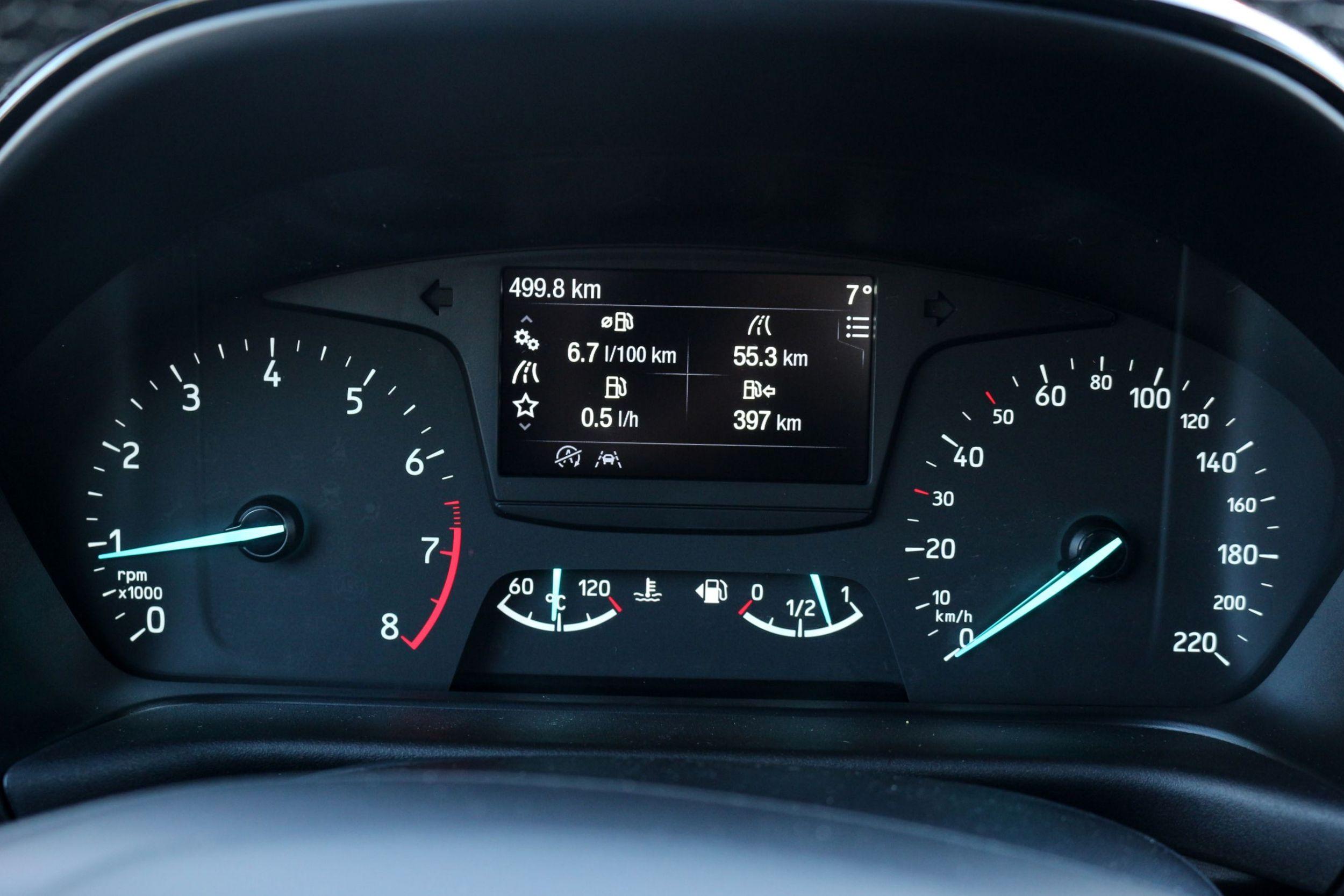 Ford Fiesta műszerfal