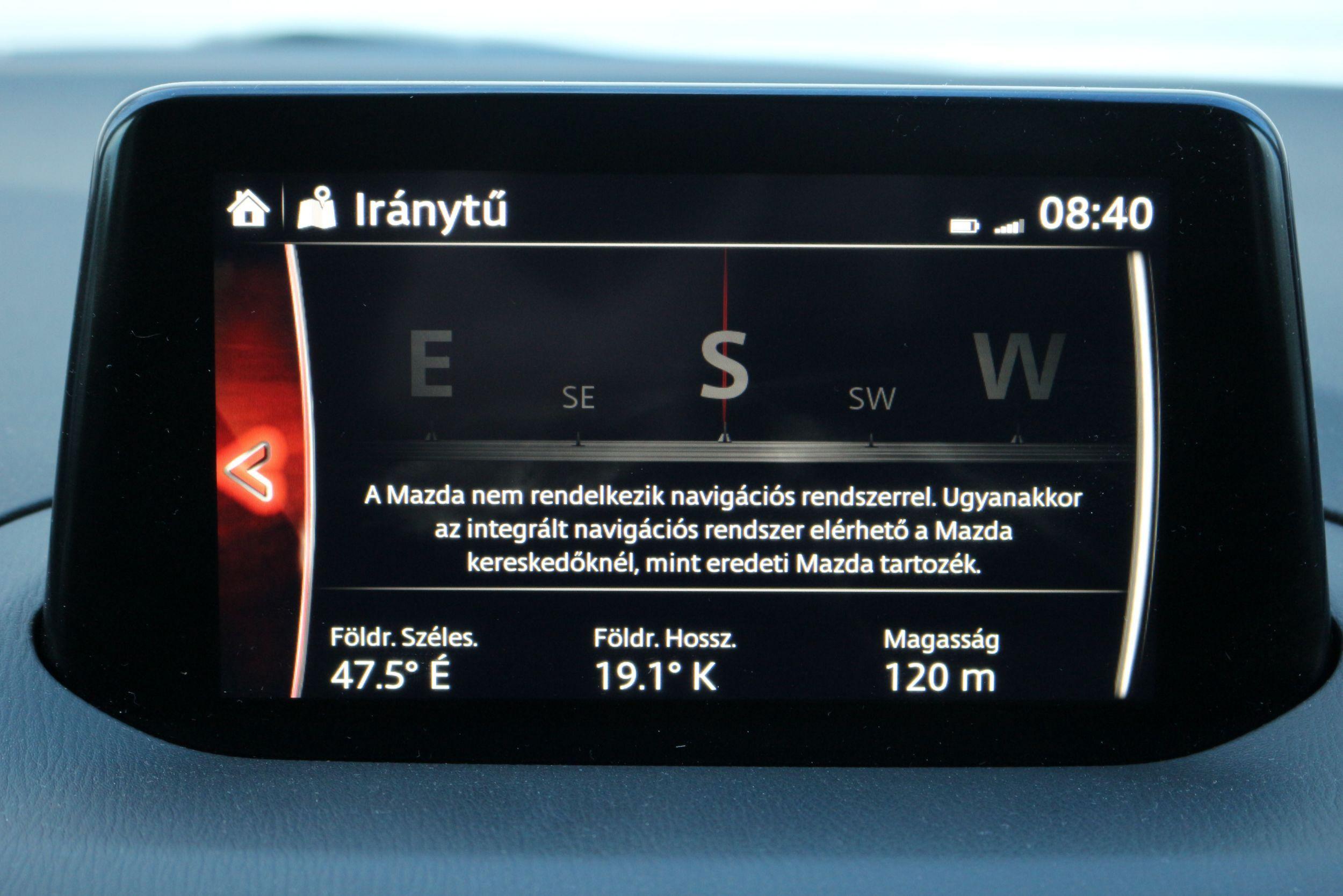 Mazda3 műszerfal