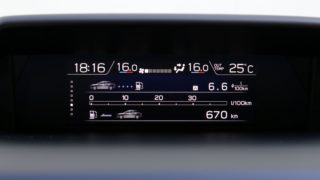 Subaru XV műszerfal