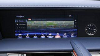 Lexus LC500 navigáció