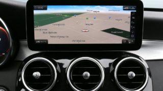 Mercedes-Benz C220d navigáció