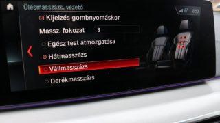 BMW M550d Touring ülésmasszázs