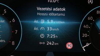VW Golf fogyasztás