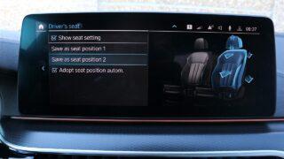 BMW 530e xDrive ülésállítás