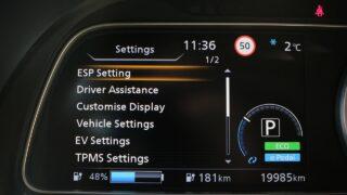 Nissan Leaf e+ műszerfal